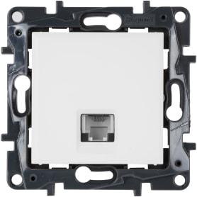 Розетка телефонная Legrand «Structura» RJ11, цвет белый