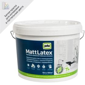 Краска для стен и потолков Jobi «Mattlatex», база А, 10 л