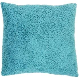 Подушка «Шерпа», 45х45 см, цвет морская волна