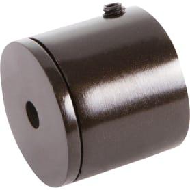 Держатель торцевой, металл, цвет венге, 2 см
