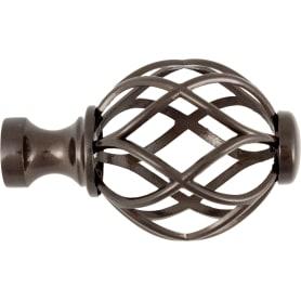 Наконечник «Бутон», металл, цвет венге, 2 см