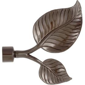 Наконечник «Вяз», металл, цвет венге, 2 см