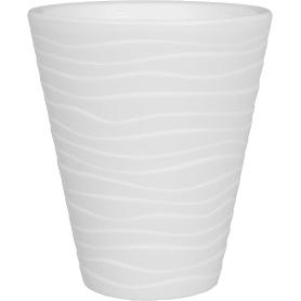 Горшок цветочный «Валенсия» D17, 2, 8л., пластик, Белый