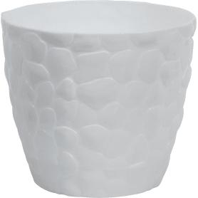 Кашпо цветочное «камни», D18, 2, 6л. пластик, Белый
