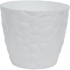 Кашпо цветочное «камни», D22, 4, 8л. пластик, Белый
