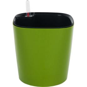 Горшок цветочный с автополивом Квадрат 16x16x16 см v3 л пластик зелёный