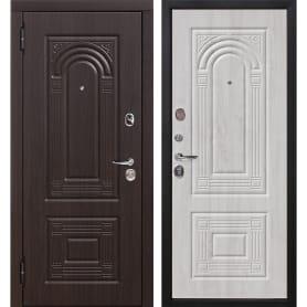Дверь входная металлическая Флоренция, 960 мм, левая, цвет белёный дуб
