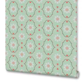 Обои «Дамаск», флизелиновые, цвет бирюзовый, 0.53х10 м