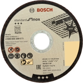 Диск отрезной по нержавейке Bosch, 115x1 мм