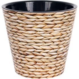 Горшок цветочный «Фиджи декор» D16, 1, 6л., пластик, Коричневый