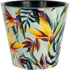 Горшок цветочный Ingreen Фиджи Тропики ø23 h20.8 см v5 л пластик жёлтый/зелёный
