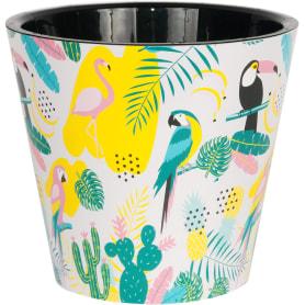 Горшок цветочный Ingreen Фиджи Фламинго ø23 h20.8 см v5 л пластик мультиколор