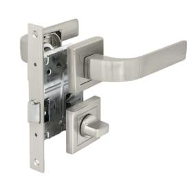 Комплект дверных ручек 22L 170 BK SN, с запиранием, цвет матовый никель