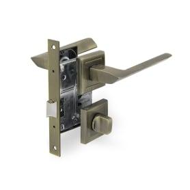 Комплект дверных ручек 26L 170 BK AB, с запиранием, цвет античная бронза