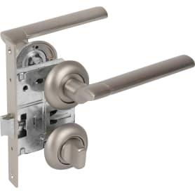 Комплект дверных ручек 19L 170 BK GF, с запиранием, цвет графит
