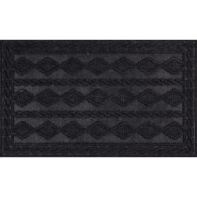 Коврик с нескользящей подложкой, 45х75 см, полиэстер, цвет чёрный