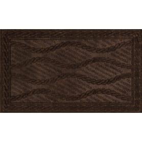 Коврик с нескользящей подложкой, 45х75 см, полиэстер, цвет тёмно-коричневый