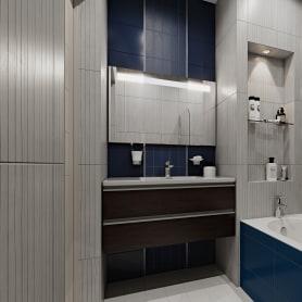 Плитка настенная Wave Tone 60x30 см 1.62 м2 цвет белый матовый