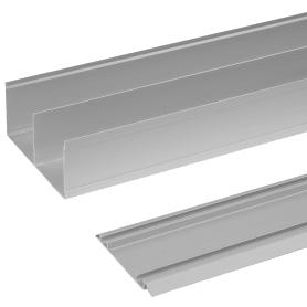 Комплект направляющих Spaceo 1183 мм цвет серебро