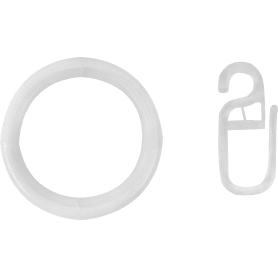 Кольцо с крючком, цвет белый, 2 см, 10 шт.