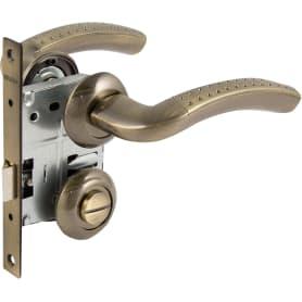 Комплект дверных ручек с запиранием SET72/Z INTRO RM/HD AB-6 зеленая бронза