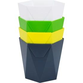 Кашпо «Пазл» 1 л 135 мм, пластик, цвет в ассортименте