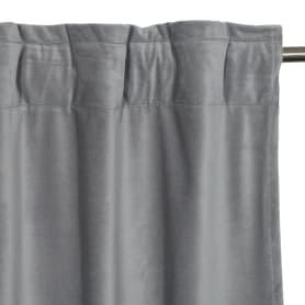 Штора на ленте со скрытыми петлями Tony 200x280 см цвет серый