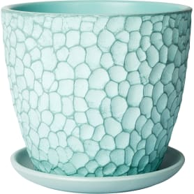 Горшок цветочный «Манго» D18, 2л., бетон, Зеленый, Синий
