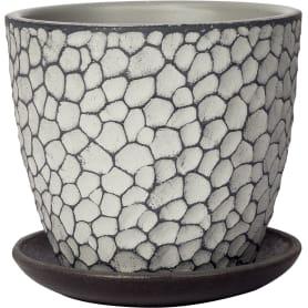 Горшок цветочный Манго ø12 v0.7 л бетон светло-серый