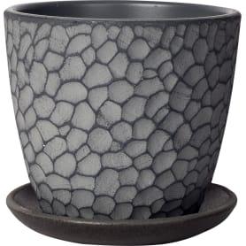 Горшок цветочный Манго ø12 v0.7 л бетон серый