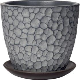 Горшок цветочный Манго ø15 v1.3 л бетон серый