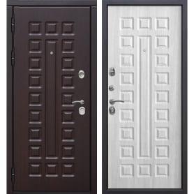 Дверь входная металлическая Сенатор 12 см, 960 мм, левая, цвет белый ясень