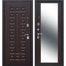 Дверь входная металлическая Сенатор 12 см, 860 мм, левая, цвет зеркало венге