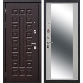 Дверь входная металлическая Сенатор 12 см, 860 мм, левая, цвет зеркало дуб сонома