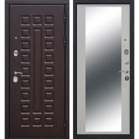 Дверь входная металлическая Сенатор 12 см, 960 мм, правая, цвет зеркало дуб сонома