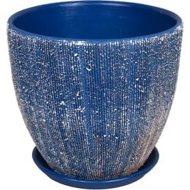 Горшок цветочный Меланж ø18 h16.5 см v2.6 л керамика синий/бежевый