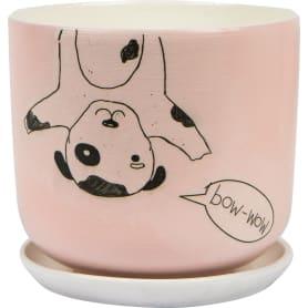 Горшок цветочный «Пуппи» D15, 1, 5л., керамика, Розовый, Черный