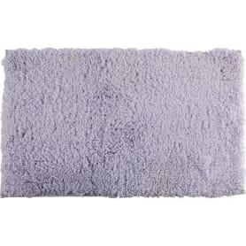 Коврик для ванной комнаты Lungo 50х80 см цвет светло-серый