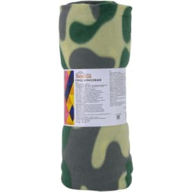 Плед «Патриот», 120х150 см, флис, цвет зелёный
