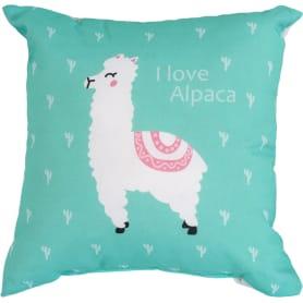 Подушка «Альпака», 40х40 см, цвет зелёный
