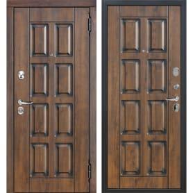 Дверь входная металлическая Мюнхен, 960 мм, правая, цвет грецкий орех/патина