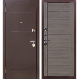 Дверь входная металлическая Ницца, 860 мм, левая, цвет грей царга