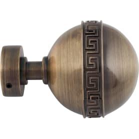 Наконечник «Шар», цинковый сплав, цвет золото антик, 2.8 см