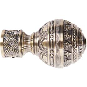 Наконечник «Ампир», цинковый сплав, цвет золото антик, 2.8 см