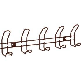 Вешалка настенная SHT-WH14-5 48.5х13 см, металл, цвет коричневый муар