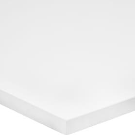Деталь мебельная 1200x400x16 мм ЛДСП, белый премиум, кромка со всех сторон