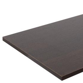 Деталь мебельная 1200x400x16 мм ЛДСП, дуб термо тёмный, кромка со всех сторон