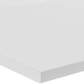 Деталь мебельная 800х400х16 мм ЛДСП, белый премиум, кромка со всех сторон