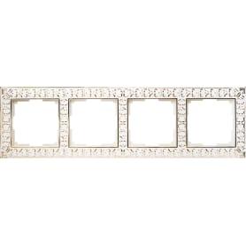 Рамка Werkel Antik, 4 поста, цвет белое золото