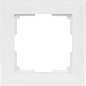 Рамка для розеток и выключателей Werkel Fiore 1 пост, цвет белый